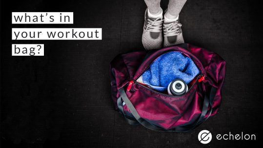 whats in your workout bag - echelon indoor cycling dublin